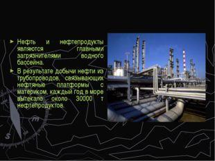 Нефть и нефтепродукты являются главными загрязнителями водного бассейна. В ре