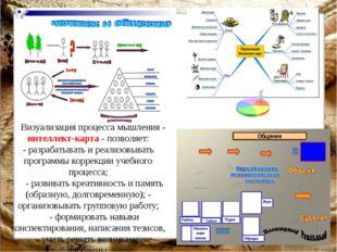 Визуализация процесса мышления - интеллект-карта - позволяет: - разрабатыват