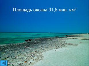 Площадь океана 91,6млн. км²