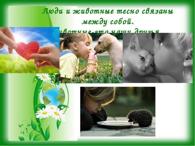 Люди и животные тесно связаны между собой. Животные-это наши друзья.