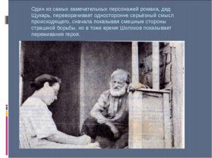 Один из самых замечательных персонажей романа, дед Щукарь, переворачивает одн