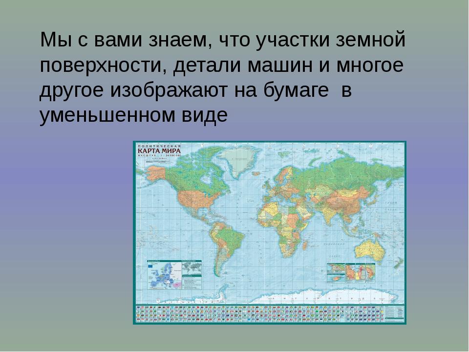Мы с вами знаем, что участки земной поверхности, детали машин и многое другое...