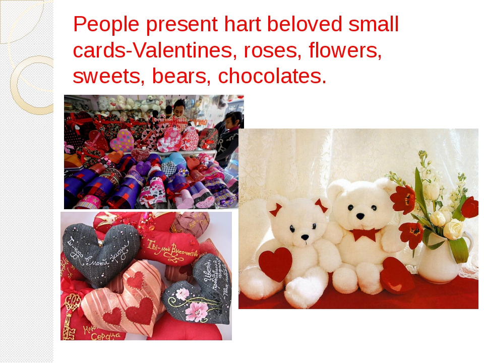 People present hart beloved small cards-Valentines, roses, flowers, sweets, b...