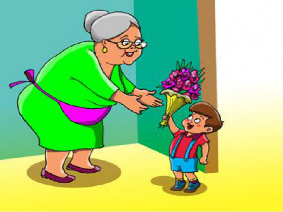 Картинки бабушка и внук нарисованные, для марта