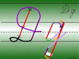Марабаева Л.А. Каждый шаг алгоритма написания буквы запускается кликом мыши.