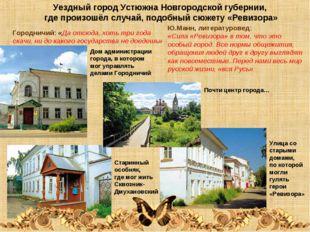 Уездный город Устюжна Новгородской губернии, где произошёл случай, подобный с