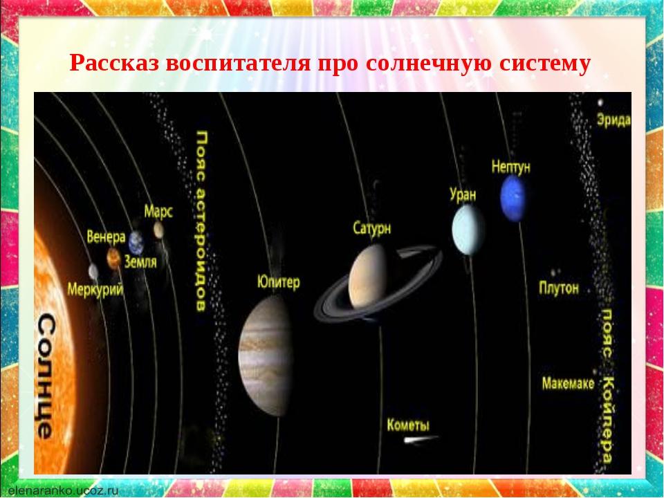 Рассказ воспитателя про солнечную систему