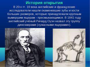 История открытия В 20-х гг. 19 века английские и французские исследователи на