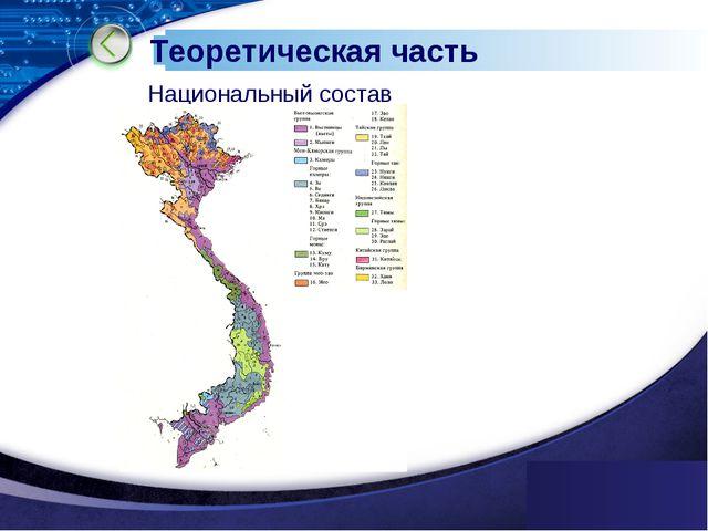 www.themegallery.com Теоретическая часть Национальный состав www.themegallery...