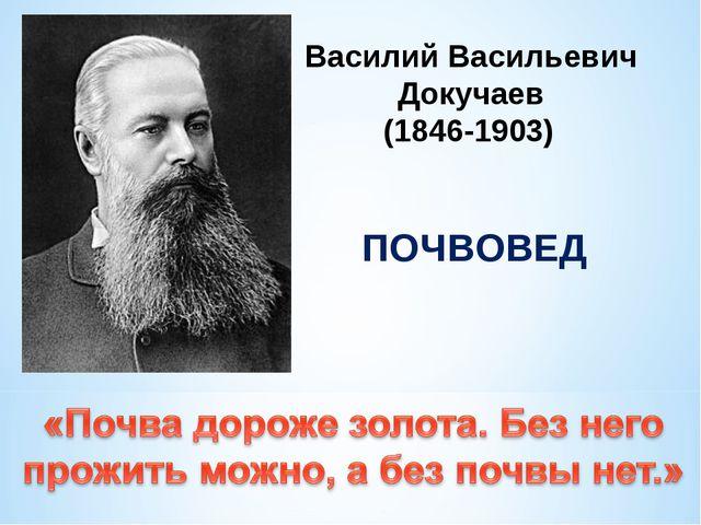 Василий Васильевич Докучаев (1846-1903) ПОЧВОВЕД