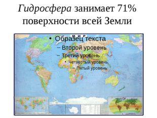 Гидросфера занимает 71% поверхности всей Земли