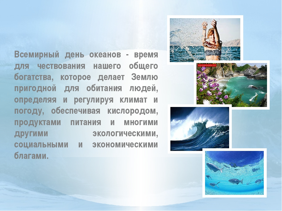 Всемирный день океанов - время для чествования нашего общего богатства, кото...