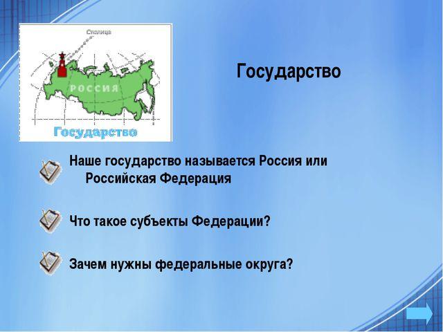 Государство Наше государство называется Россия или Российская Федерация Что т...