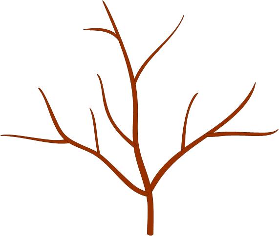картинка веточка дерева без листьев дна