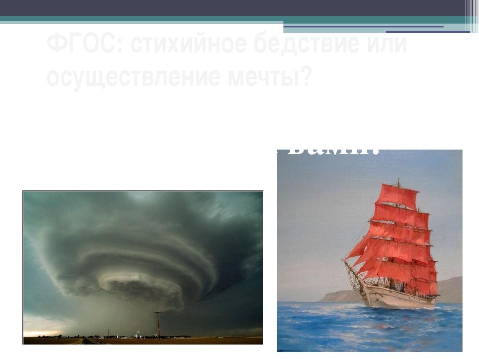 ФГОС: стихийное бедствие или осуществление мечты? Решение за вами!