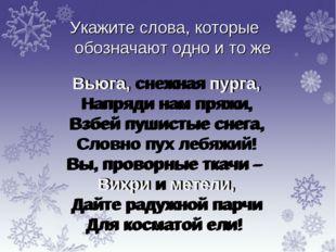 Вьюга, снежная пурга, Напряди нам пряжи, Взбей пушистые снега, Словно пух леб