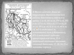 В Малой излучине Дона, на территории Верхнемамонского района, действовали вой