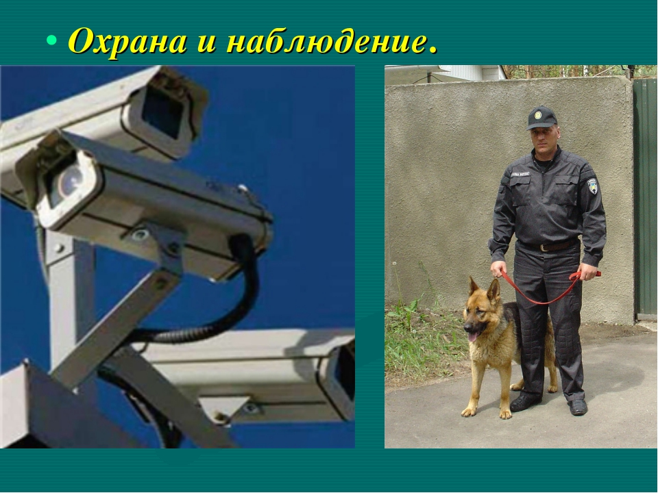 Охрана и наблюдение.