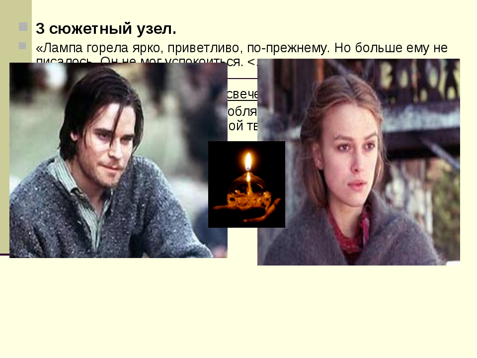 3 сюжетный узел. «Лампа горела ярко, приветливо, по-прежнему. Но больше ему н...