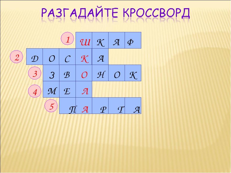 М Е Л 1 2 3 4 5