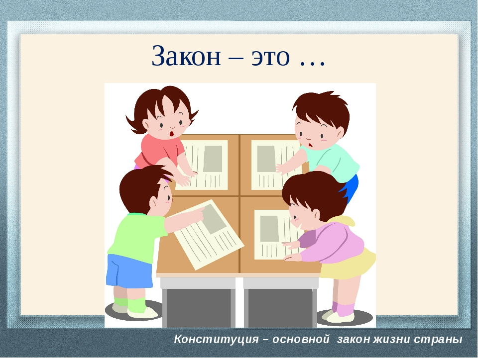 Конституция – основной закон жизни страны Закон – это … В группах обсудите «Ч...