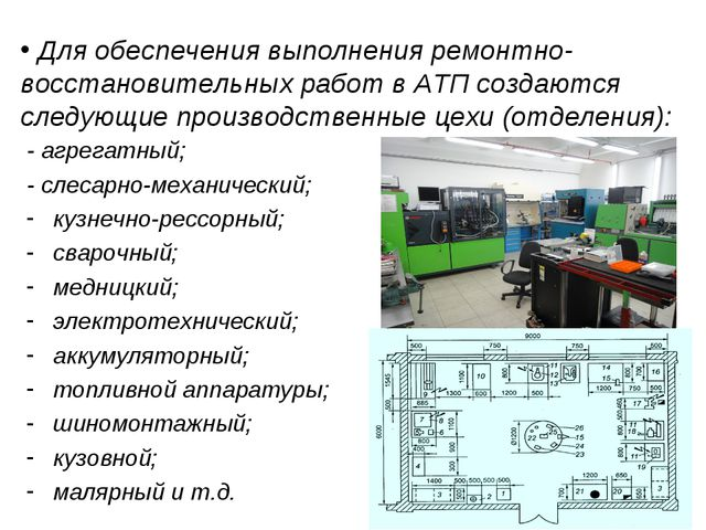 Для обеспечения выполнения ремонтно-восстановительных работ в АТП создаются...