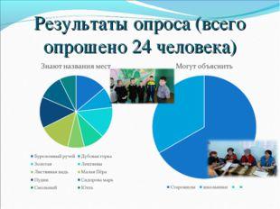 Результаты опроса (всего опрошено 24 человека)