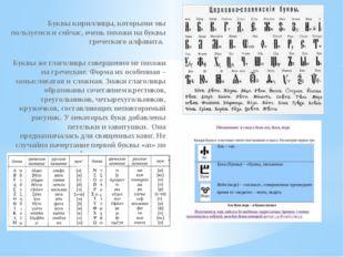 Буквы кириллицы, которыми мы пользуемся и сейчас, очень похожи на буквы грече