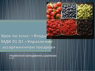 Разработала преподаватель Щербакова С.И.