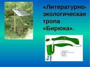 «Литературно- экологическая тропа «Бирюка».