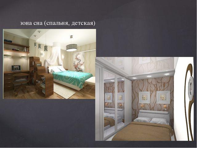 зона сна (спальня, детская)