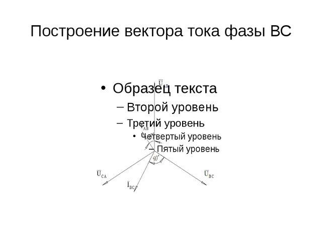 Построение вектора тока фазы ВС
