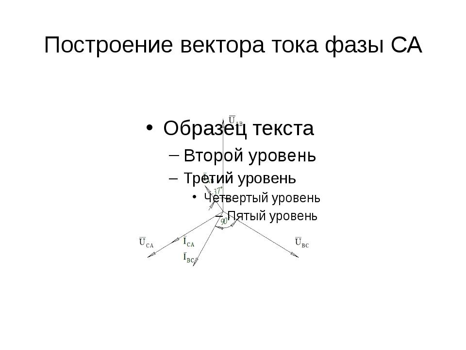 Построение вектора тока фазы СА