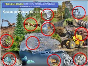 Какими ресурсами богата Россия? Что такое природные ресурсы? Природные ресур