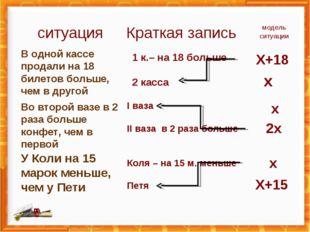 В одной кассе продали на 18 билетов больше, чем в другой Во второй вазе в 2 р