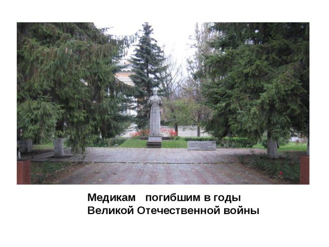 Медикам погибшим в годы Великой Отечественной войны