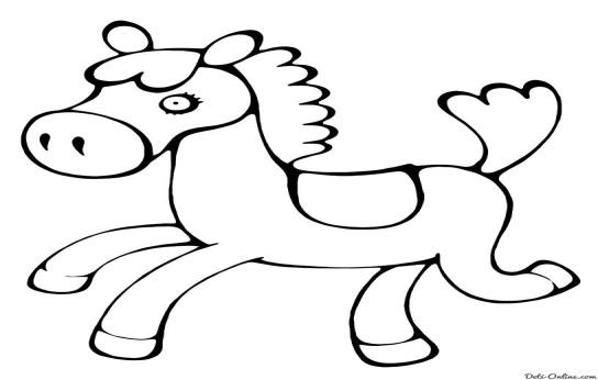 Раскраска Игрушечный пони Раскраски Лошади и пони