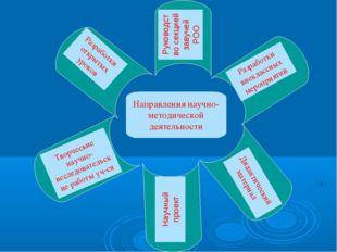 Направления научно-методической деятельности Руководство секцией завучей РОО