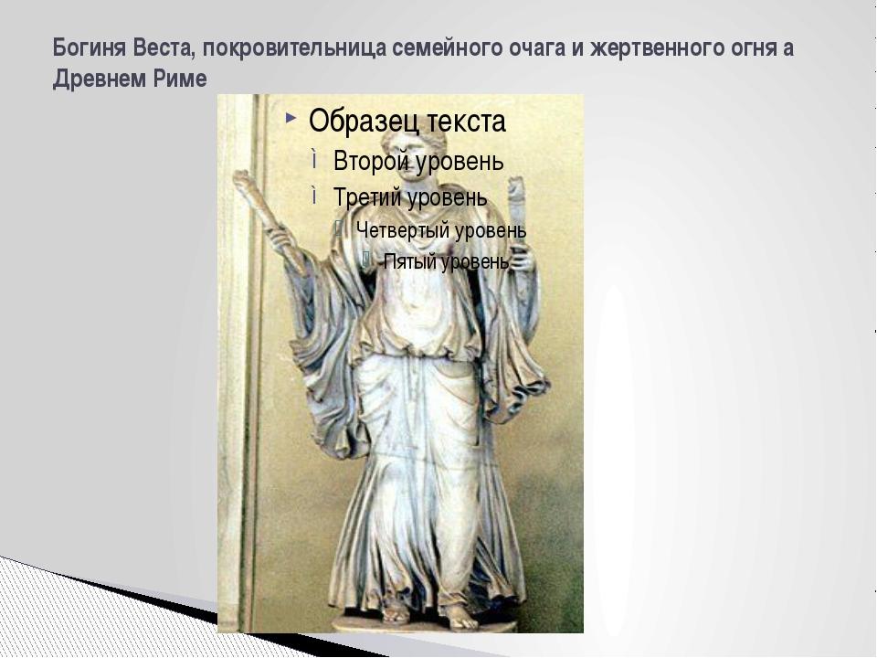 Богиня Веста, покровительница семейного очага и жертвенного огня а Древнем Риме