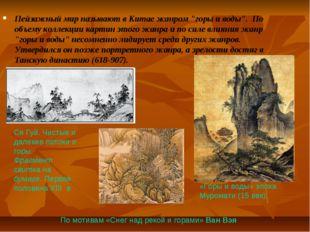 """Пейзажный мир называют в Китае жанром """"горы и воды"""". По объему коллекции карт"""