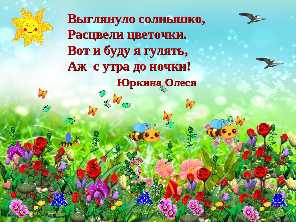 Выглянуло солнышко, Расцвели цветочки. Вот и буду я гулять, Аж с утра до ночк...