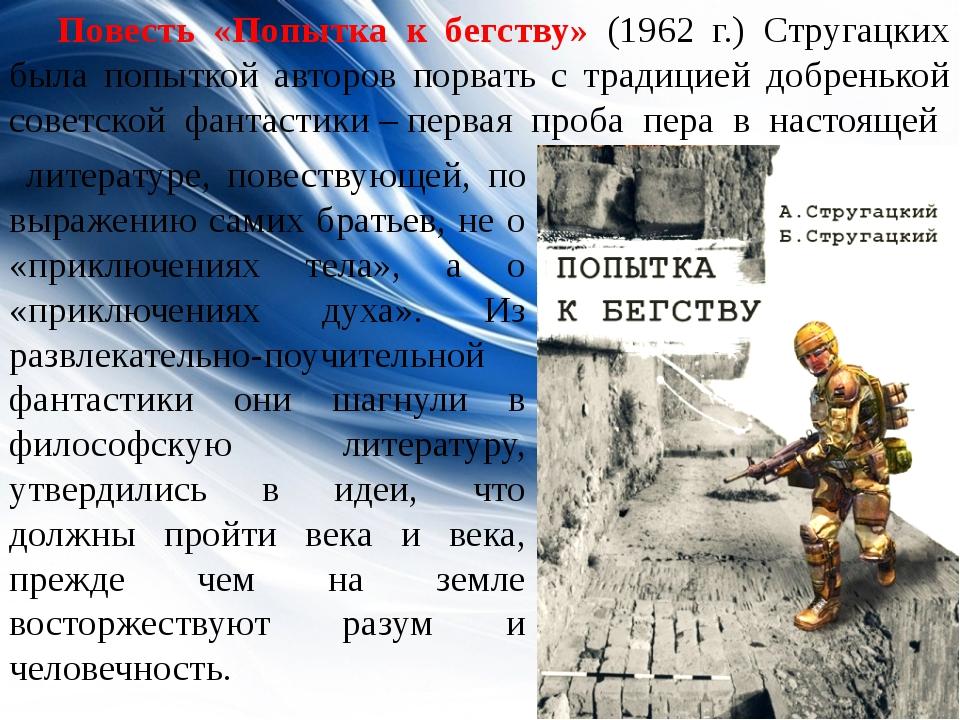 литературе, повествующей, по выражению самих братьев, не о «приключениях тел...