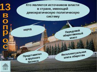Кто является источником власти в стране, имеющей демократическую политическую