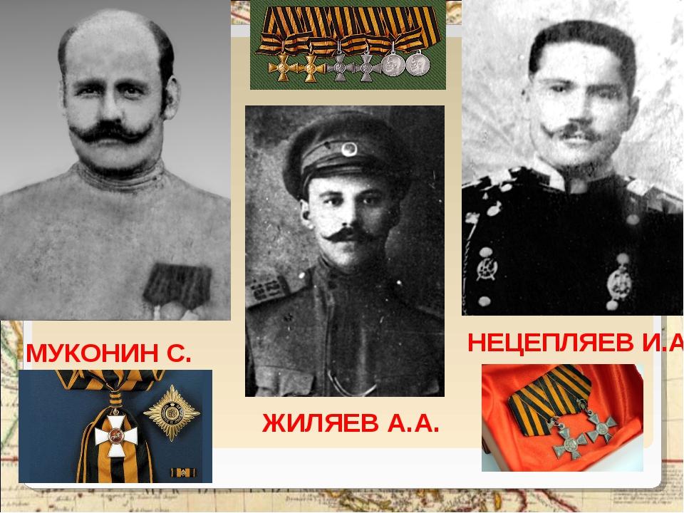 МУКОНИН С. ЖИЛЯЕВ А.А. НЕЦЕПЛЯЕВ И.А.