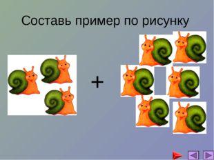 Составь пример по рисунку +