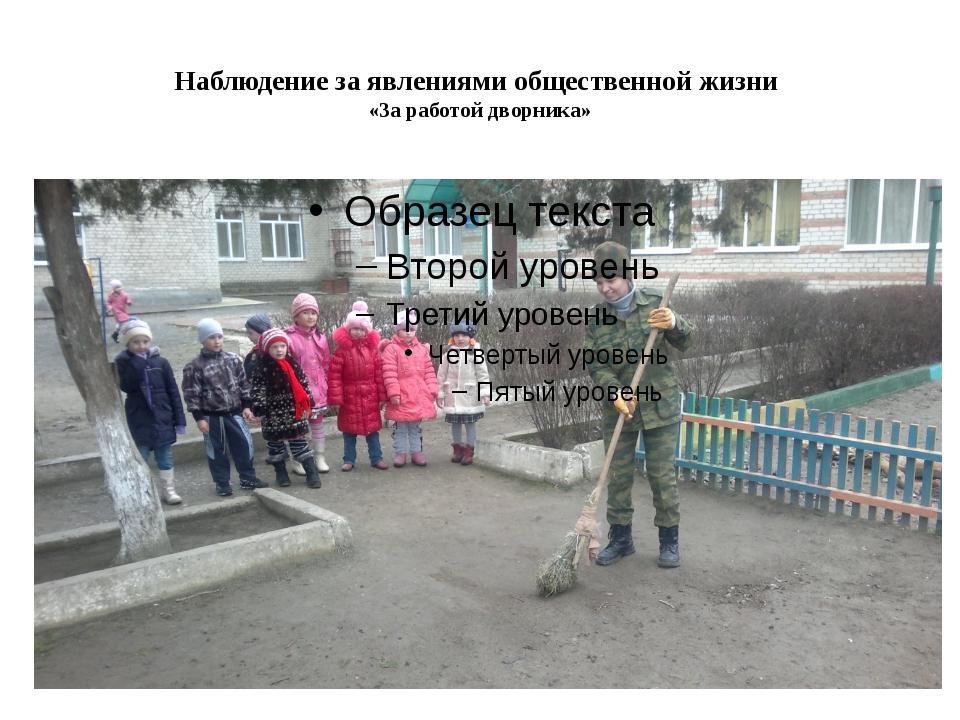 Наблюдение за явлениями общественной жизни «За работой дворника»