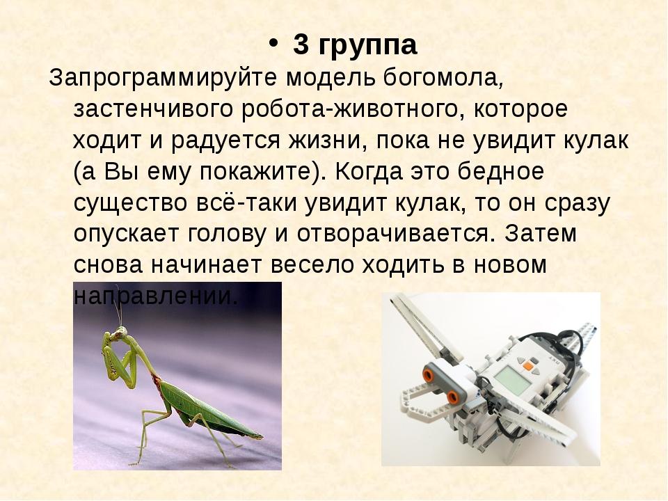 3 группа Запрограммируйте модель богомола, застенчивого робота-животного, кот...