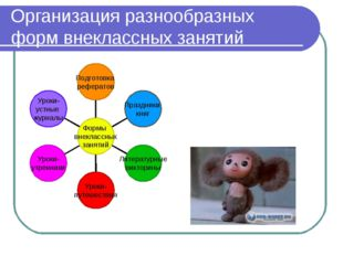 Организация разнообразных форм внеклассных занятий