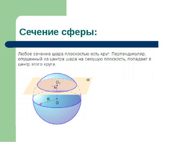 Сечение сферы: