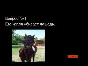 Вопрос №4 Его капля убивает лошадь.